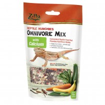 """Zilla Reptile Munchies Omnivore with Calcium 4 ounces 5.875"""" x 2.75"""" x 9.5"""""""