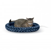 """K&H Pet Products Thermo-Kitty Fashion Splash Bed Large Blue 16"""" x 22"""" x 2"""""""