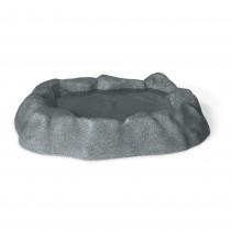 K&H Pet Products Birdbath Unheated 1 Gallon Gray 17'' x 23.5'' x 4''