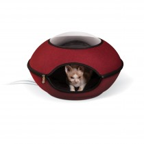 """K&H Pet Products Thermo-Lookout Cat Pod Red 21"""" x 21"""" x 7.5"""""""