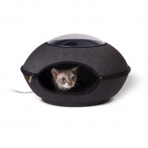 """K&H Pet Products Thermo-Lookout Cat Pod Gray 21"""" x 21"""" x 7.5"""""""