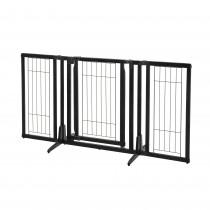 "Richell Premium Plus Freestanding Pet Gate Black 34""-63"" x 20.5""-26"" x 32"""