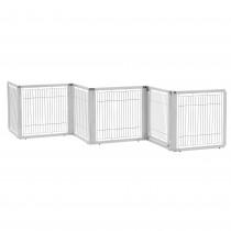"Richell Convertible Elite Freestanding Pet Gate 6-Panel Origami White 135.8"" x 29.1"" x 31.5"""